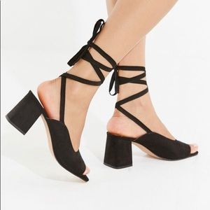 UO Lace up heel